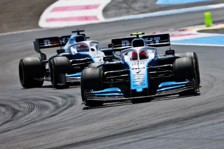 Robert Kubica George Russell F1 Grand Prix Francji Williams