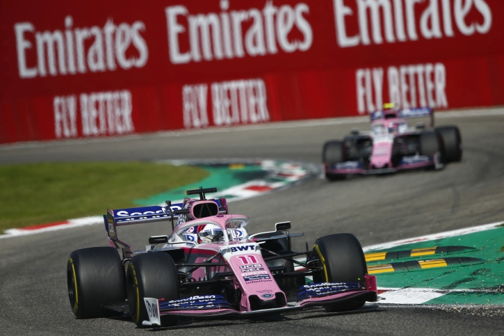 Sergio Perez, Racing Point RP19 Lance Stroll, Racing Point RP19