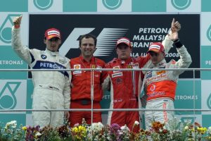Grand Prix Bahrajnu 2008 podium