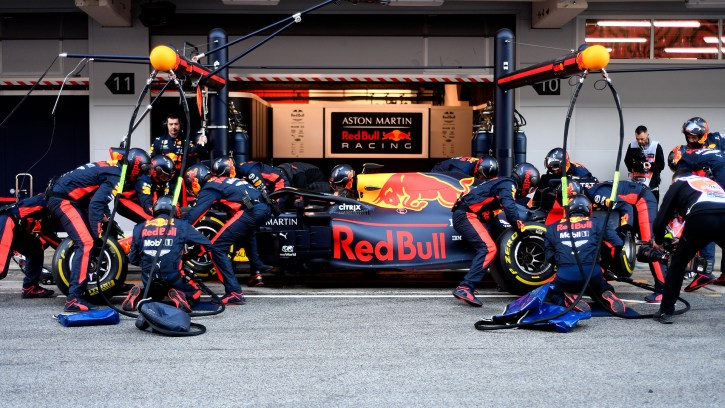 Red Bull Racing test