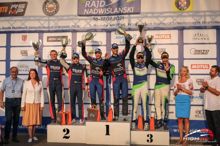 Rajd Nadwiślański 2021 podium